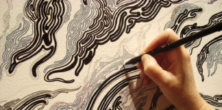 Ross's intricate labyrinth project comes to life at the Eleanor D. Wilson Museum at Hollins University.